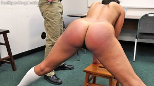 Real Spankings Institute - Cleo's Naked Punishment By The Dean (part 1 Of 2) - image 10
