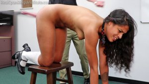 Real Spankings Institute - Cleo's Naked Punishment By The Dean (part 2 Of 2) - image 2