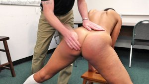 Real Spankings Institute - Cleo's Naked Punishment By The Dean (part 1 Of 2) - image 5
