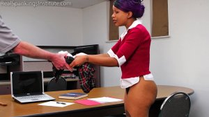 Real Spankings Institute - Cupcake Learns A Lesson About Turning In Her Work (part 1) - image 11