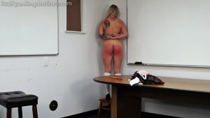 Real Spankings Institute - Cara Spanked By The Dean (part 2 Of 2) - image 11