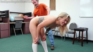 Real Spankings Institute - Cara Spanked By The Dean (part 2 Of 2) - image 5