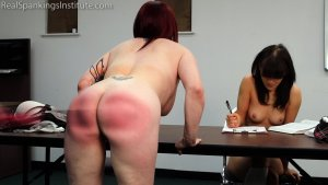 Real Spankings Institute - Hand Spanked And Strapped Together (part 4 Of 4) - image 4