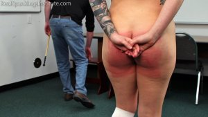 Real Spankings Institute - Strapped And Caned By The Dean (part 2 Of 2) - image 1