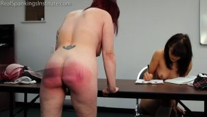 Real Spankings Institute - Hand Spanked And Strapped Together (part 4 Of 4) - image 11