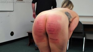 Real Spankings Institute - Strapped And Caned By The Dean (part 2 Of 2) - image 3