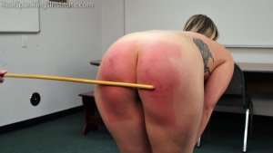 Real Spankings Institute - Strapped And Caned By The Dean (part 2 Of 2) - image 5