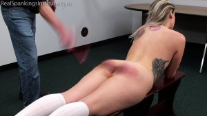 Real Spankings Institute - Strapped And Caned By The Dean (part 1 Of 2) - image 9