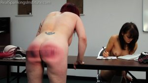 Real Spankings Institute - Hand Spanked And Strapped Together (part 4 Of 4) - image 7