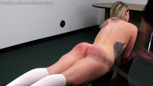Real Spankings Institute - Strapped And Caned By The Dean (part 1 Of 2) - image 4