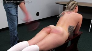 Real Spankings Institute - Strapped And Caned By The Dean (part 1 Of 2) - image 11