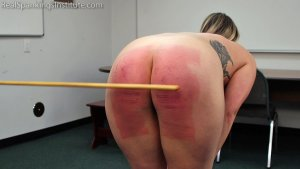 Real Spankings Institute - Strapped And Caned By The Dean (part 2 Of 2) - image 9