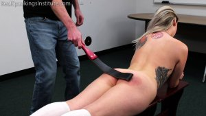 Real Spankings Institute - Strapped And Caned By The Dean (part 1 Of 2) - image 7