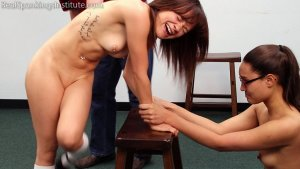 Real Spankings Institute - Two Naughty School Girls Punished Together(part 3 Of 4) - image 14