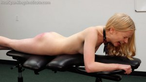 Real Spankings Institute - Alice's Embarrassing Punishment From The Dean - image 1