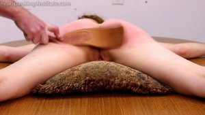 Real Spankings Institute - Strapped While Naked Spread Eagle - image 3