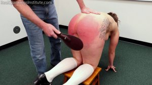 Real Spankings Institute - Maya: Strapped & Paddled For Dress Code Violations (part 2) - image 9