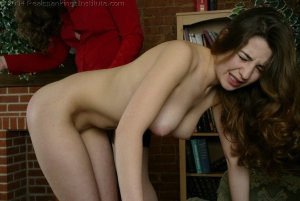 Real Spankings Institute - Michelle Spanked In The Library - image 7