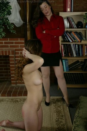 Real Spankings Institute - Michelle Spanked In The Library - image 2