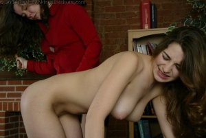 Real Spankings Institute - Michelle Spanked In The Library - image 14