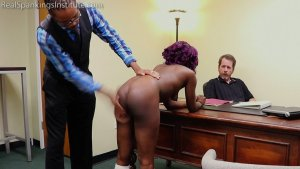 Real Spankings Institute - Cleo And Nuna Get A Hand Spanking In The Dean's Office (part 2 Of 2) - image 5