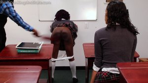 Real Spankings Institute - Nuna And Cleo Spanked For Disrupting Class (part 2 Of 2) - image 4