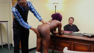 Real Spankings Institute - Cleo And Nuna Get A Hand Spanking In The Dean's Office (part 2 Of 2) - image 4