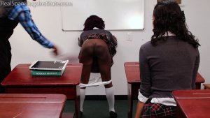 Real Spankings Institute - Nuna And Cleo Spanked For Disrupting Class (part 2 Of 2) - image 6