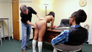 Real Spankings Institute - Cleo And Nuna Get A Hand Spanking In The Dean's Office (part 1 Of 2) - image 5