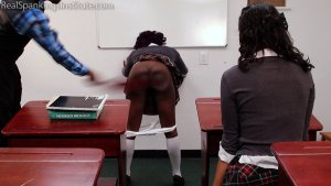 Real Spankings Institute - Nuna And Cleo Spanked For Disrupting Class (part 2 Of 2) - image 2