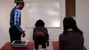 Real Spankings Institute - Nuna And Cleo Spanked For Disrupting Class (part 2 Of 2) - image 8