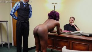 Real Spankings Institute - Cleo And Nuna Get A Hand Spanking In The Dean's Office (part 2 Of 2) - image 9