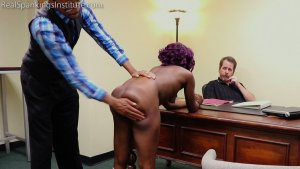 Real Spankings Institute - Cleo And Nuna Get A Hand Spanking In The Dean's Office (part 2 Of 2) - image 12
