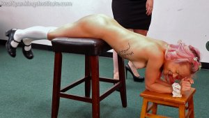 Real Spankings Institute - Kiki's Dress Code Strapping Part 2kiki's Dress Code Strapping (part 2) - image 6