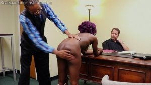 Real Spankings Institute - Cleo And Nuna Get A Hand Spanking In The Dean's Office (part 2 Of 2) - image 7