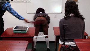 Real Spankings Institute - Nuna And Cleo Spanked For Disrupting Class (part 2 Of 2) - image 11