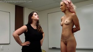 Real Spankings Institute - Kiki's Dress Code Strapping Part 2kiki's Dress Code Strapping (part 2) - image 1