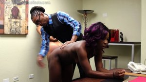 Real Spankings Institute - Cleo And Nuna Get A Hand Spanking In The Dean's Office (part 2 Of 2) - image 11