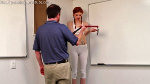 Real Spankings Institute - Strapped For Laziness In Gym Class (part 1) - image 11