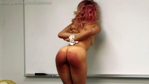 Real Spankings Institute - Kiki's Dress Code Strapping Part 2kiki's Dress Code Strapping (part 2) - image 7