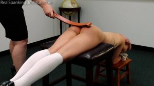 Real Spankings Institute - Kiki's Dress Code Strapping Part 2kiki's Dress Code Strapping (part 2) - image 14