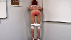 Real Spankings Institute - Strapped For Laziness In Gym Class (part 2) - image 6