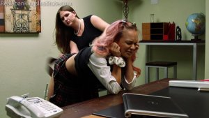 Real Spankings Institute - Kiki's Dress Code Strapping (part 1) - image 8