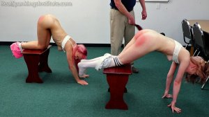 Real Spankings Institute - Kiki And Alice Spanked Together ( Part 2 Of 4) - image 7
