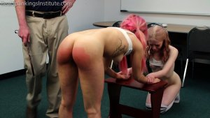 Real Spankings Institute - Kiki And Alice Spanked Together (part 3 Of 4) - image 3