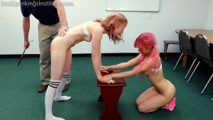 Real Spankings Institute - Kiki And Alice Spanked Together (part 3 Of 4) - image 8