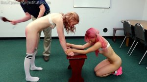 Real Spankings Institute - Kiki And Alice Spanked Together (part 3 Of 4) - image 13