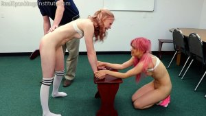 Real Spankings Institute - Kiki And Alice Spanked Together (part 3 Of 4) - image 10