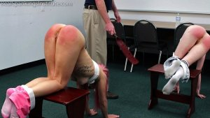 Real Spankings Institute - Kiki And Alice Spanked Together ( Part 2 Of 4) - image 2