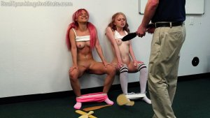 Real Spankings Institute - Kiki And Alice Spanked Together (part 3 Of 4) - image 5